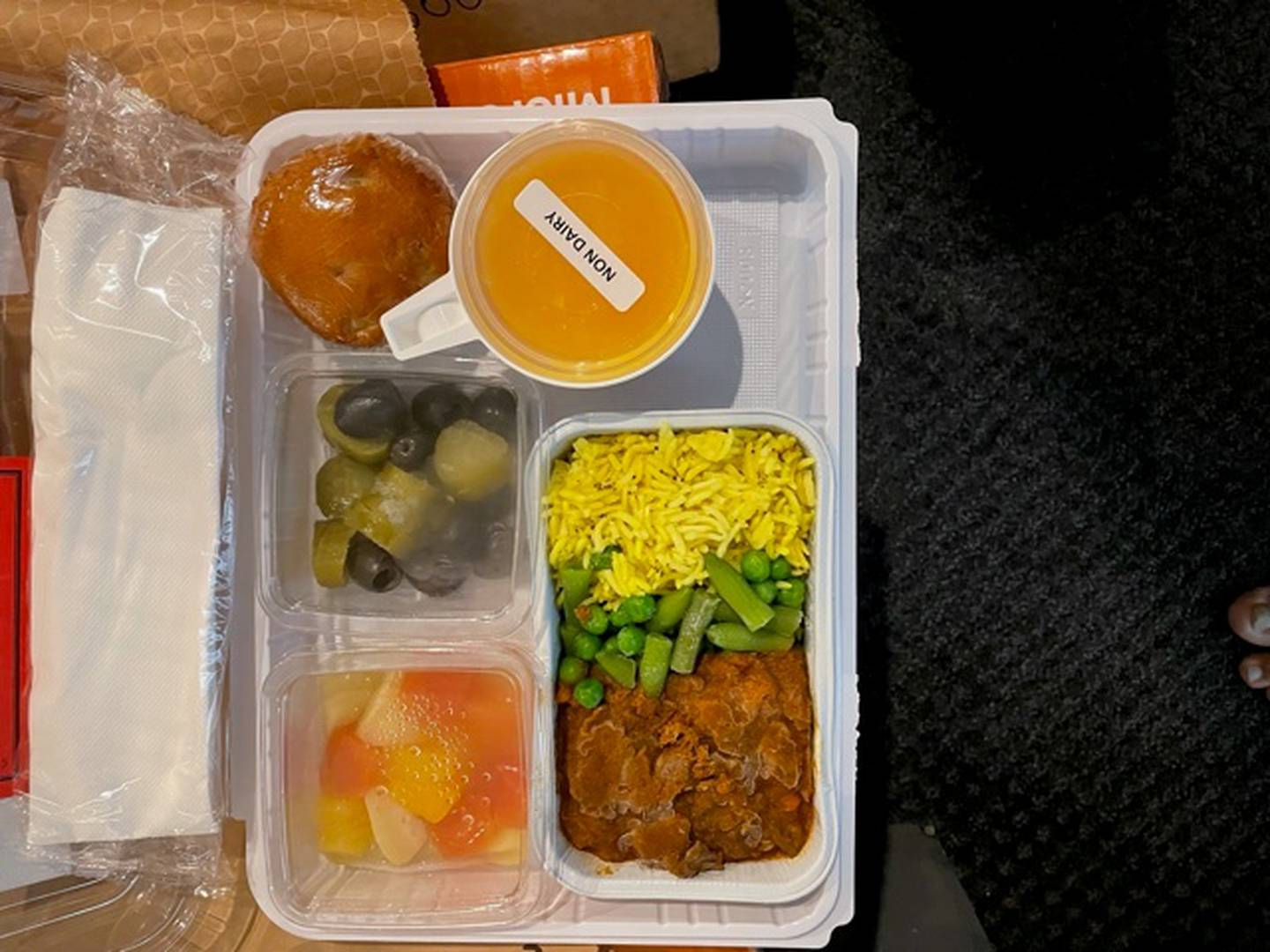 One of the frozen kosher meals Ilan Paz has received in Christchurch MIQ. Photo / Supplied