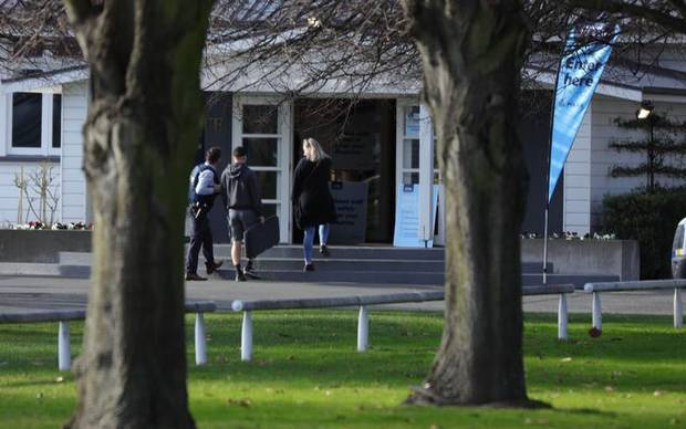 Gun owners at the racecourse. Photo / RNZ