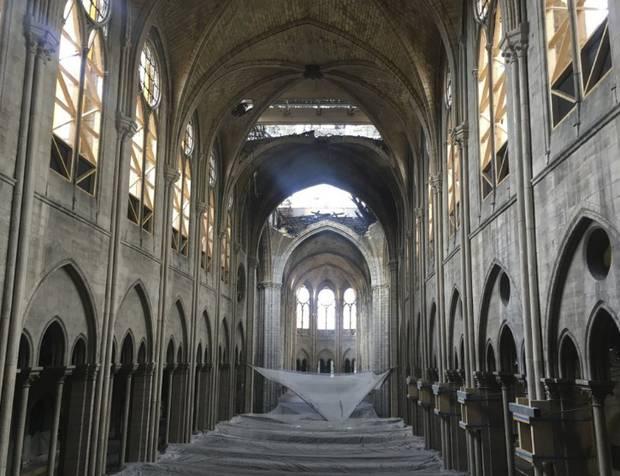 A view inside Notre Dame last month.