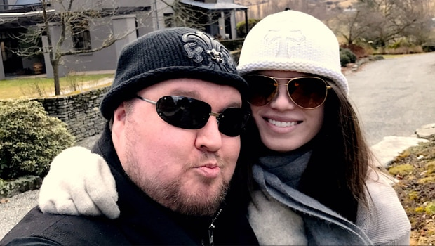 Kim Dotcom and Elizabeth Donnelly, as she was then, in Queenstown.