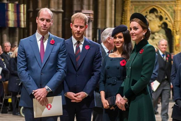 Prince William and Catherine, Prince Harry and Meghan. Photo / Getty Images