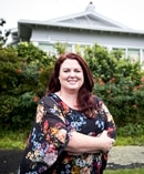 Resident Izania Downie is concerned about a proposed multi-unit development on the site of a single dwelling on Seaview Terrace in Mt Albert, Auckland. Photo: NZH/Michael Craig