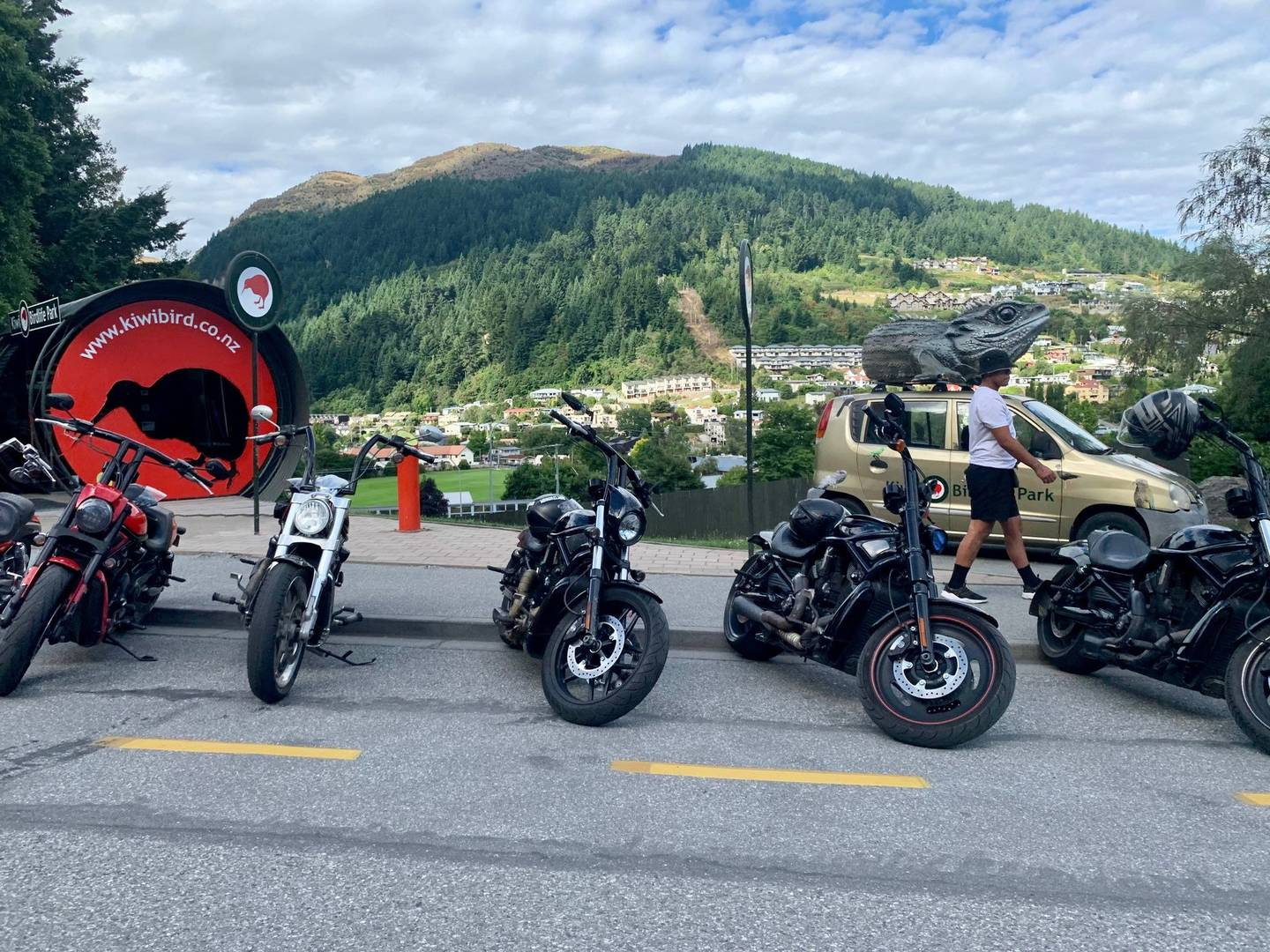 Some of the gang members continued their southern tour to the tourism hotspot of Queenstown. Photo / James Allan