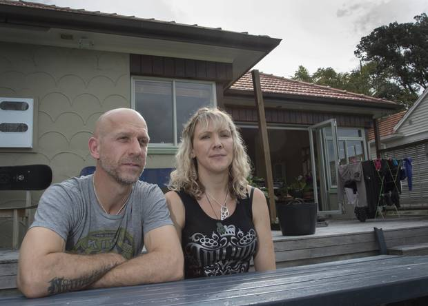 Dana Cornes and Jonathan Van Campen were frustrated at how difficult it was to get help with their damp and mouldy home. Photo: Nick Reed
