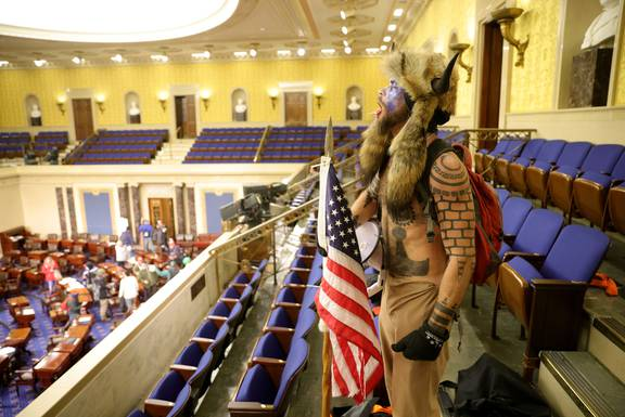 Who is the horned man who stormed the US Capitol? - NZ Herald