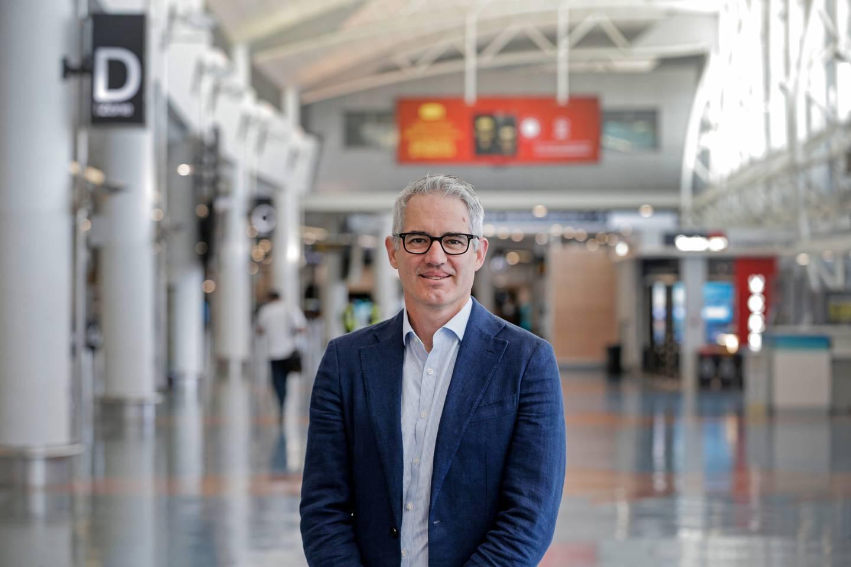 Adrian Littlewood, Auckland International Airport's chief executive.  Photo / Alex Burton