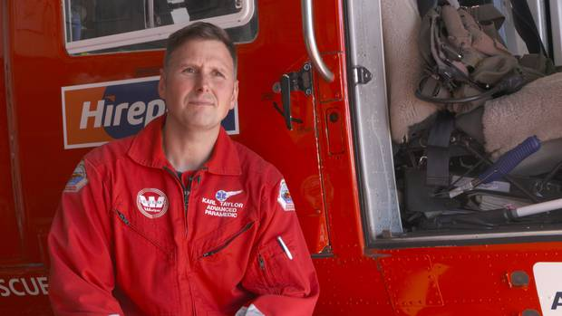 Auckland Rescue Helicopter chief Paramedic Karl Taylor.