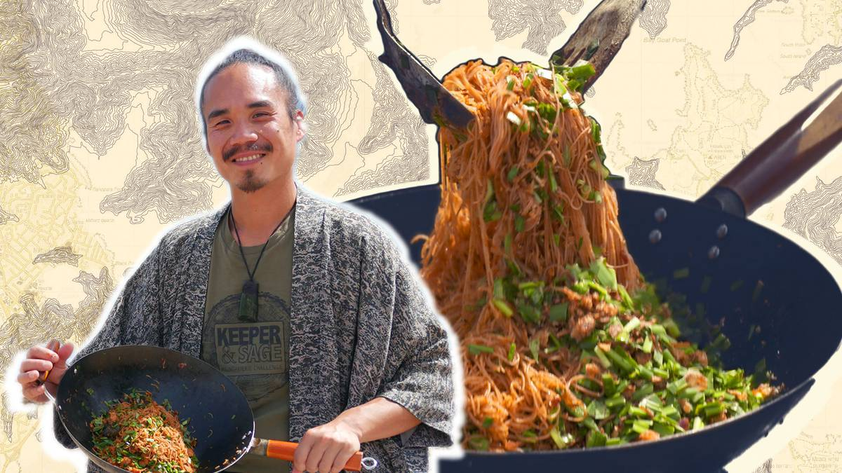 Campfire cook out recipes: Fabian Low's one-wok noodles