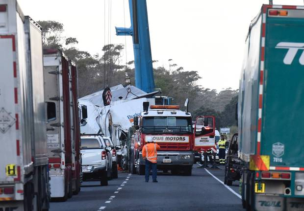 Emergency services attend a crash on State Highway 2 near Matata. Photo / File