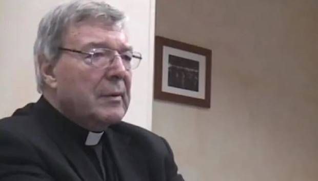George Pell police interview in Rome. Photo / Supplied