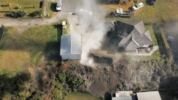 Aerial view of the section with mud pool. Photo / File