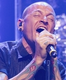Chester Bennington said his new music followed dark personal times in his last Australian interview. Photo / AP