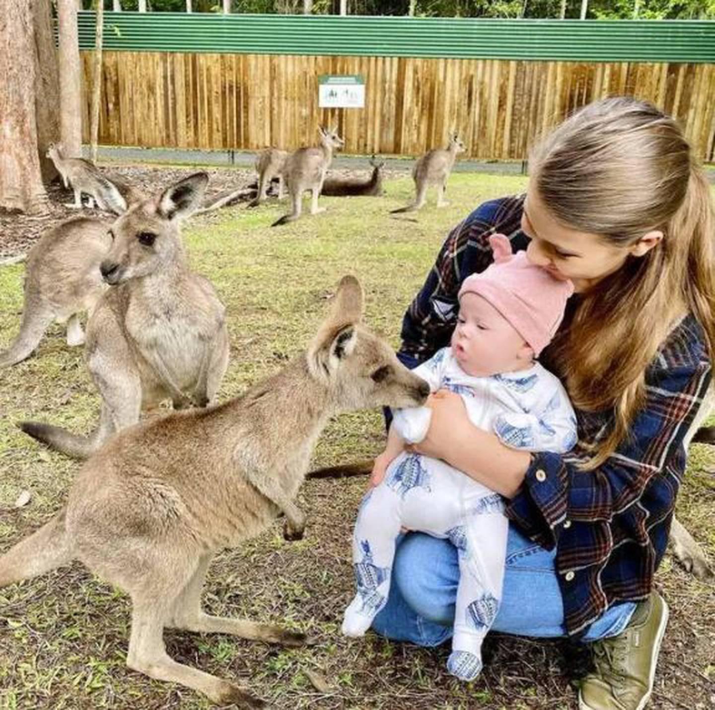 Bindi introduced Grace to some baby kangaroos. Photo / Instagram