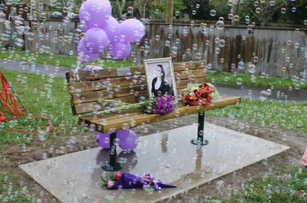 A memorial for Lois Tolley was held in Harcourt Park on October 10, 2017. Photo / Supplied