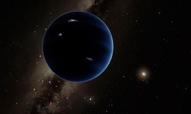 This artistic rendering shows the distant view from Planet Nine back toward the sun. Photo / Caltech/R. Hurt