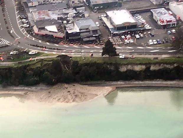 Taupo residents are being urged not to flush their toilets or use any unnecessary water following a water main and wastewater pipe break on Lake Terrace. Photo / Supplied
