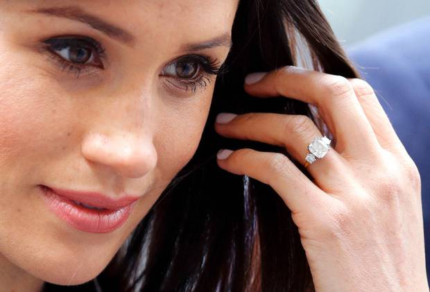 Meghan's ring is estimated to be worth over $120,000. Photo / Getty Images