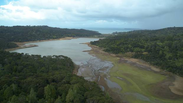 Watercare's storage dams have dropped below 50 per cent, prompting mandatory water restrictions. Photo / Watercare
