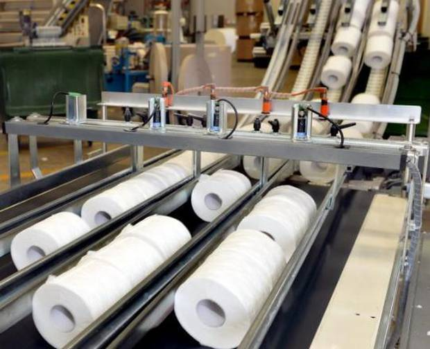 Cottonsoft toilet paper being produced at the company's Timaru St factory. Photo / Supplied