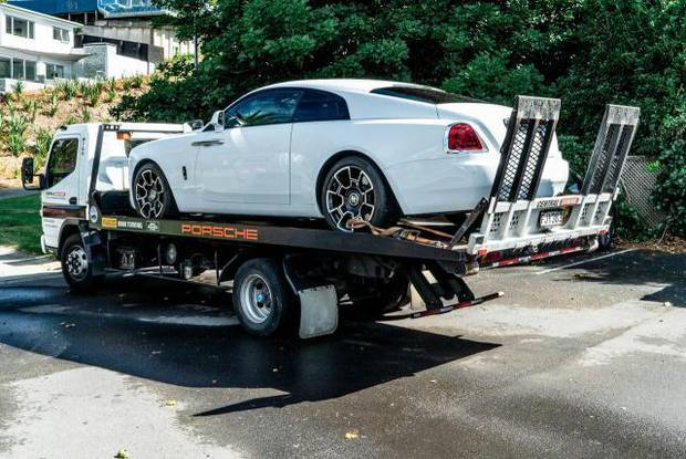 Police seized the Rolls Royce Wraith which Tyson Daniels purchased for $595,000. Photo / Police