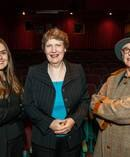 Sian Simpson, Helen Clark and Gaylene Preston at a San Francisco event for Kiwis. Photo / Margot Duane