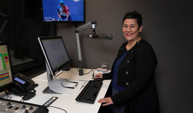 Niva Retimanu, newsreader for Newstalk ZB, took 38 minutes to get onto Victoria St yesterday. Photo / Herald