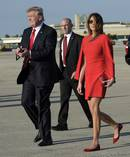 President Donald Trump and First Lady Melania Trump return to the White House following a weekend trip to Mar-a-Lago. Photo / AP