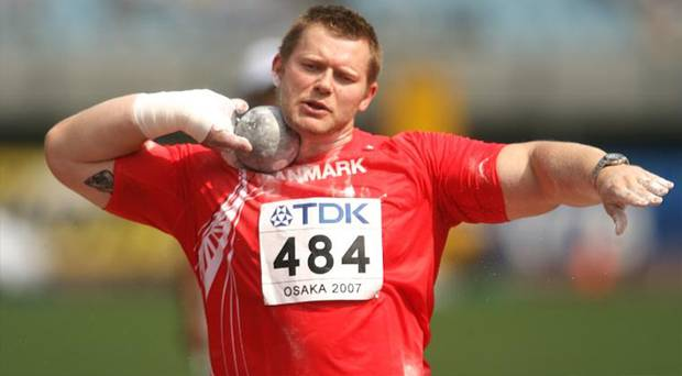 Denmark's Joachim B. Olsen, an Olympic shot putter turned politician, has caused a stir after taking out a campaign ad on a popular online porn site. Photo / Getty