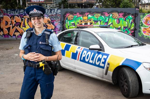 Sarah made the change from reporting crime and social issues to being on the front line. Photo / Jason Oxenham
