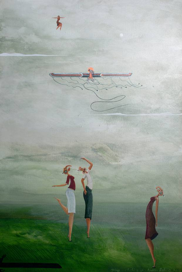Andrea Hopkins, Things are Looking Up, 2011, acrylic on canvas. Private Collection