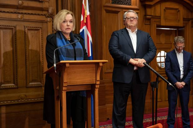 National Party leader Judith Collins and deputy leader Gerry Brownlee. Photo / Mark Mitchell