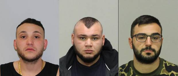 A nationwide manhunt is underway for Abdullah El Nasher, 27, Ali El Nasher, 28, and Mikhael Myko, 25. Photo / Supplied