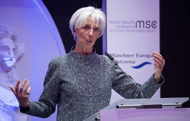 Christine Lagarde, managing director and chairwoman of the International Monetary Fund. Photo/Getty Images