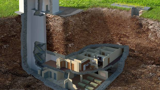 A graphic showing the interior of the property, which is being advertised as a potential family home.Photo / Caters News