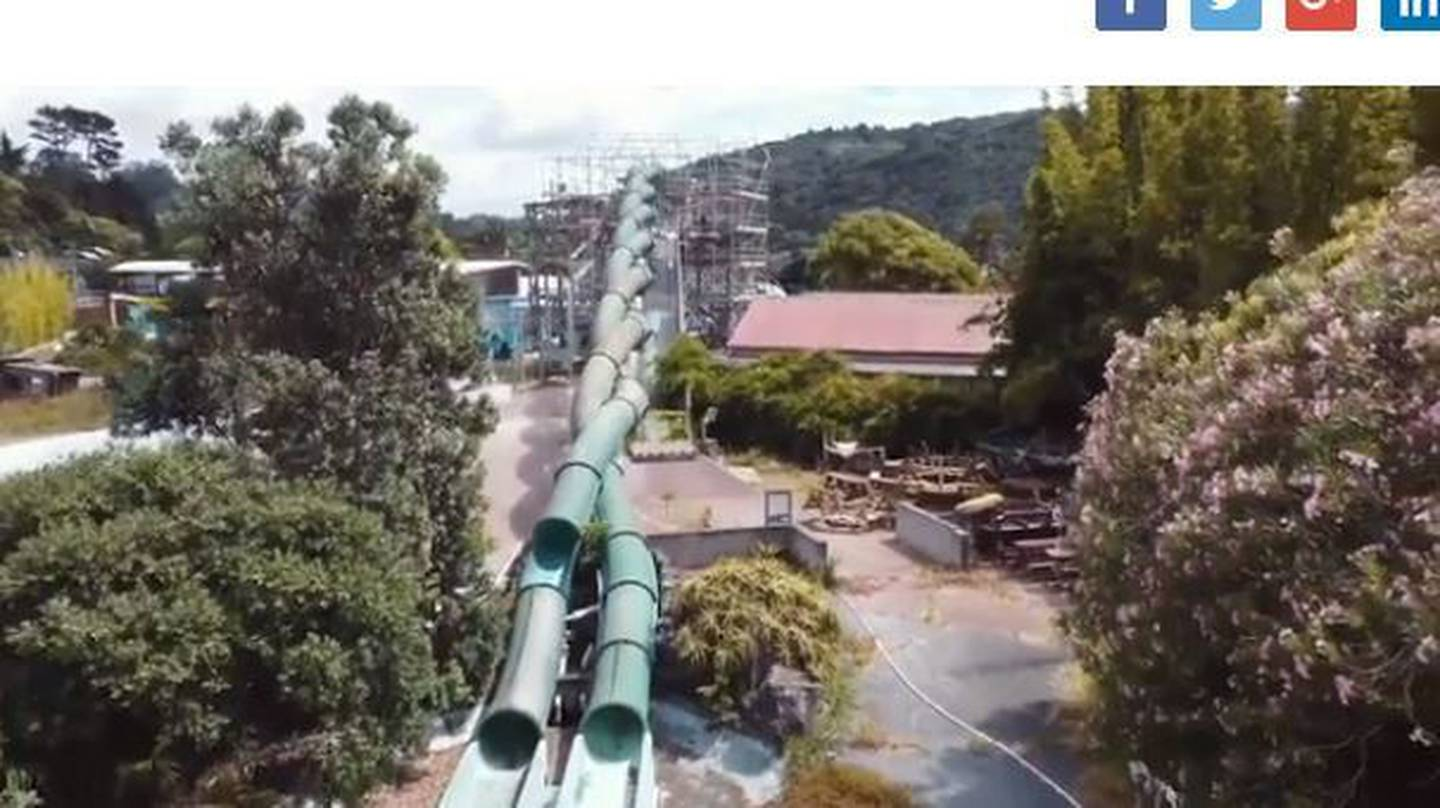 Only one slide remains intact, and it is now greatly discoloured. Photo / Supplied