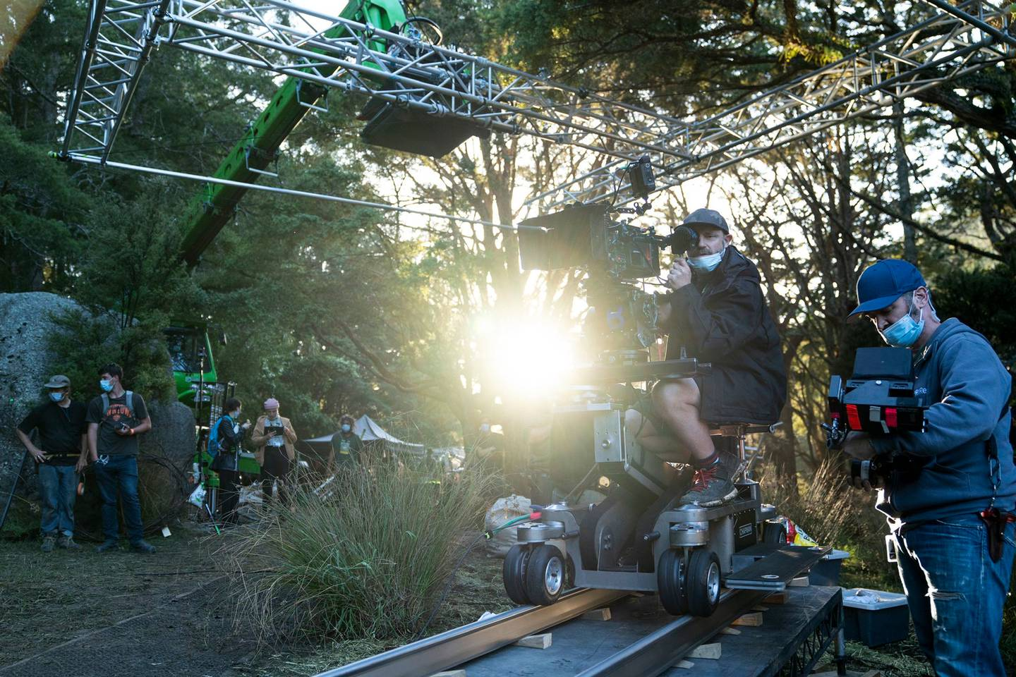 Filming on the set of the Lord Of The Rings for Amazon Studios in West Auckland. Photo / Supplied