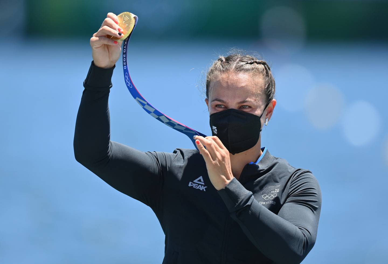 Lisa Carrington (NZL) won two gold medals today. Photo / Photosport.co.nz