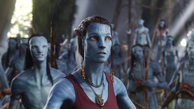 Sigourney Weaver's Navi Avatar in the movie Avatar. The sequels are to be shot in Wellington. photo / Supplied
