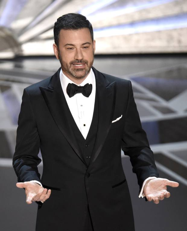 Oscars host Jimmy Kimmel is copping a fair share of the blame for low ratings. Photo / AP