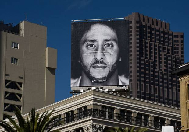 Former San Francisco 49ers quarterback Colin Kaepernick is a face of Nike. Photo / Getty Images