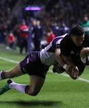 Codie Taylor of New Zealand scores the opening try during the International test match between Scotland and New Zealand at Murrayfield Stadium. Photo / Getty Images