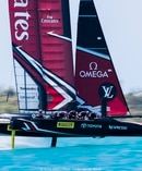 Team New Zealand in action at the America's Cup. Photo/Sander van der Borch