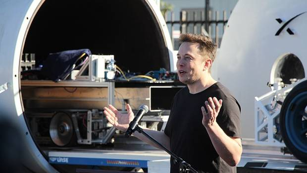 Elon Musk's Hyperloop plans have left some fans less than enthusiastic. Photo/Getty Images.