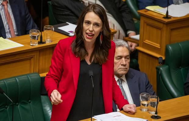 Prime Minister Jacinda Ardern during the adjournment debate in Parliament. Photo / Mark Mitchell
