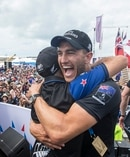 Team New Zealand celebrate winning the America's Cup. Photo / AP.