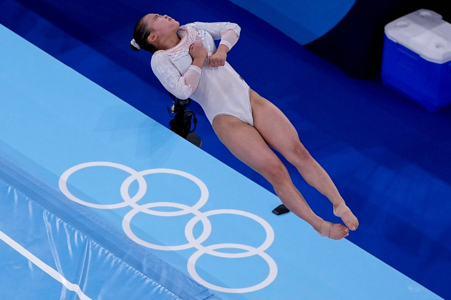 Yeo Seo-jeong, of South Korea, performs on the vault. Photo / AP
