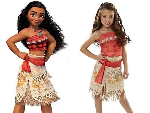 Dressing children up as Disney's Moana this Halloween is racist, according to influential parenting blogger. Sachi Feris' blog has attracted nearly 100,000 shares online this week, where she claimed allowing children to go as Moana risks parodying Polynesian culture. Photo / Amazon