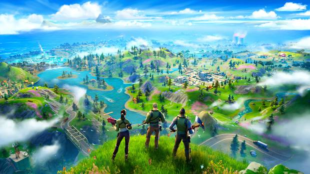 The new map to explore in Fortnite, the world's most popular video game. Image / Epic Games