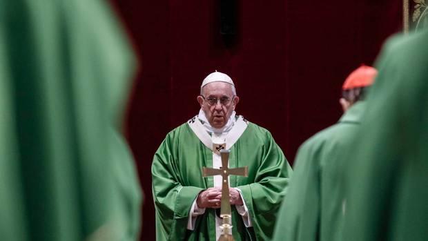 Pope Francis celebrates Mass at the Vatican. Photos / AP