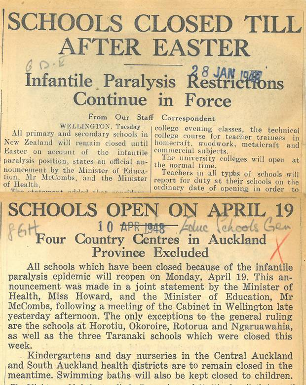 Herald reports on the polio epidemic in 1948. Source: Herald archives
